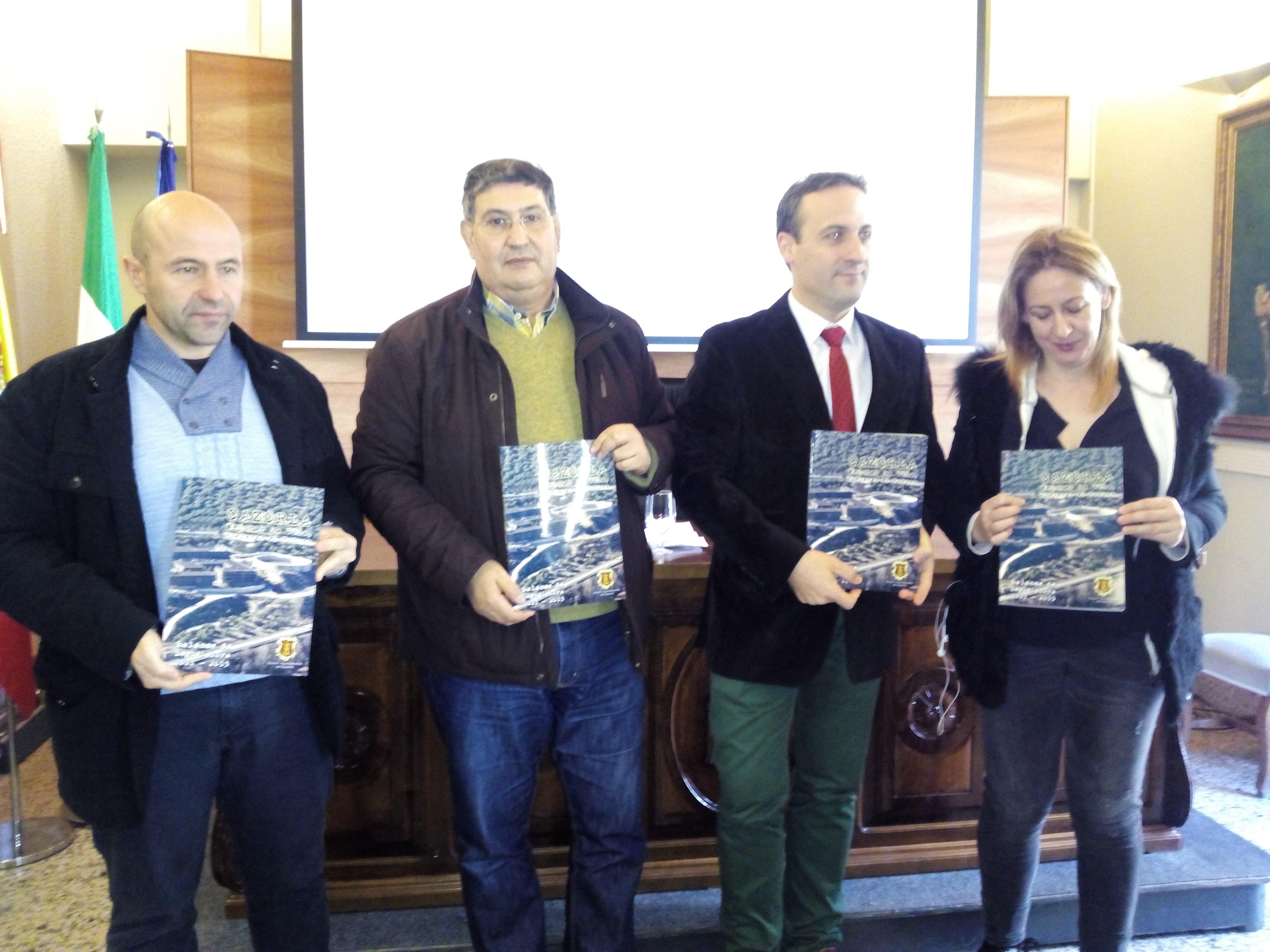 De izquierda a derecha, Jose Luis Olivares, Jose Luis Díaz, Antonio José Rodríguez y Rosalia Lorite en la presentación del balance de gestión