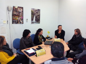 Imagen de la reunión con los tecnicos de Andalucía Orienta
