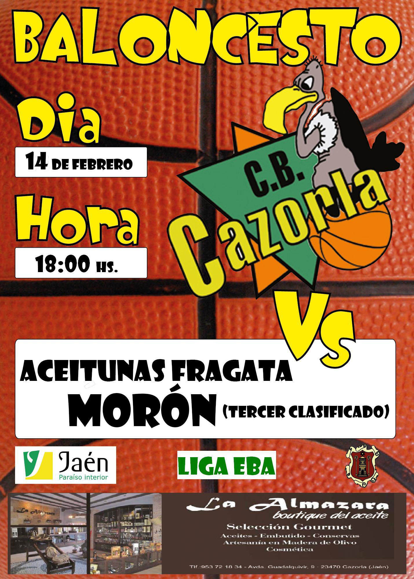 Cartel CB CAZORLA-ACEITUNAS FRAGATA