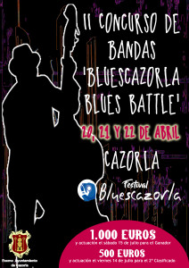Cartel Concurso de Bandas BluesCazorla Blues Battle