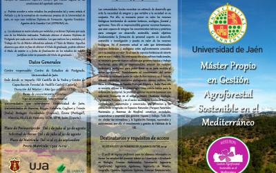 Máster Propio en Gestión Agroforestal Sostenible en el Mediterráneo