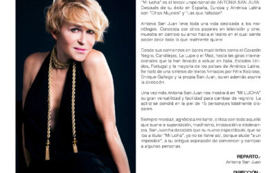 """Antonia San Juan nos visita para contarnos """"Mi Lucha"""""""