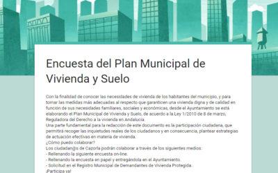 Encuesta del Plan Municipal de Vivienda y Suelo