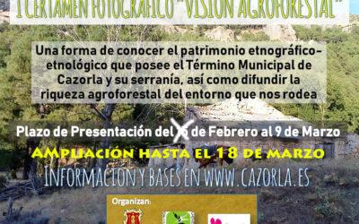 """Ampliación hasta el 18 de marzo del I Certamen Fotográfico """"Visión Agroforestal"""""""
