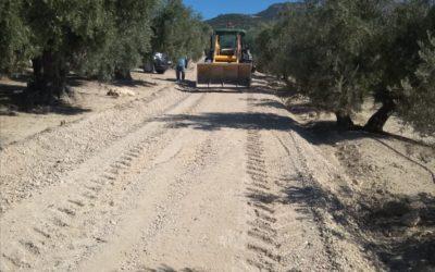 El Ayuntamiento de Cazorla en colaboración con consistorios de la comarca repara caminos rurales limítrofes para la próxima campaña de aceituna