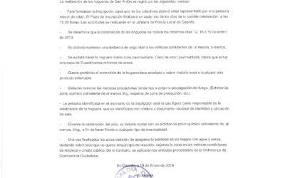 Bando Hogueras de San Antón 2019