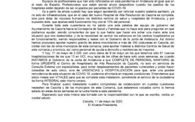 Carta Abierta al Presidente de la Junta de Andalucía