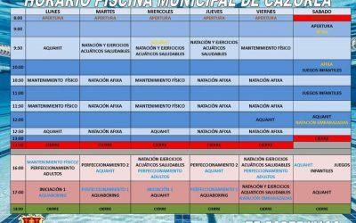 Horario de Actividades Deportivas en la Piscina Municipal