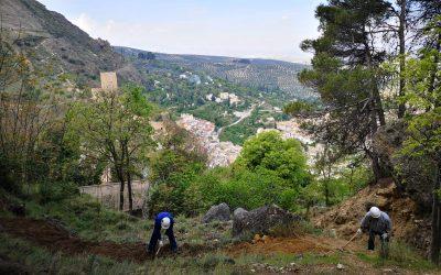 Iniciadas las obras que el Ayuntamiento de Cazorla reclamaba sobre la restauración y consolidación de los diques de la Peña de los Halcones