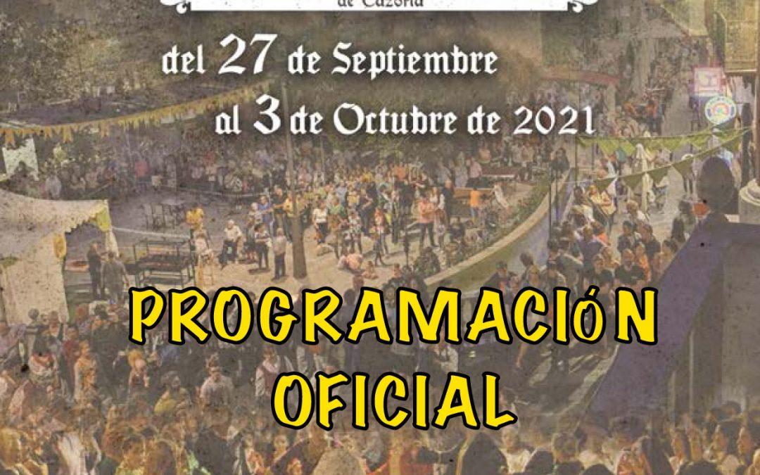 Programación II Fiestas del Adelantamiento 2021